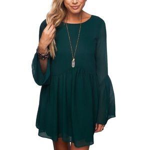 Buddy Love Hall Dress-Emerald